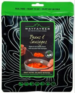 Wayfayrer Beans & Sausage - Outdoor Camping Ready to Eat Meal Pouch