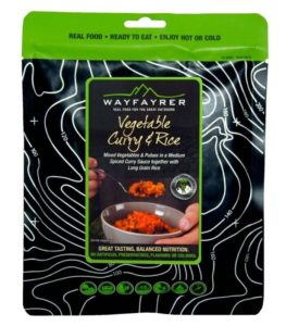Wayfayrer Vegetable Curry & Rice - Outdoor Camping Ready to Eat Dessert Pouch