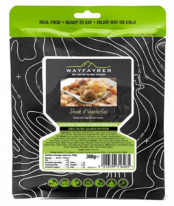 Wayfayrer Steak & Vegetables - Outdoor Camping Ready to Eat Meal Pouch